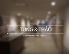 Proposal in cinema – Tùng & Thảo